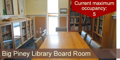 The Big Piney Library Board Room